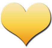 Gold heart Stock Images