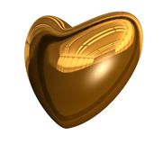 Gold heart Royalty Free Stock Images