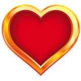 Gold heart Royalty Free Stock Photos