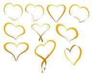Gold heart. Royalty Free Stock Photo