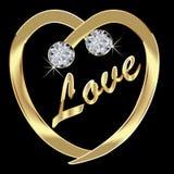 Gold Heart Stock Photos