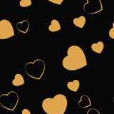 Gold heart Royalty Free Stock Photos