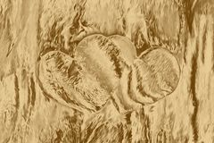 Gold heart collage for love artwork texture,  decoration. Gold heart collage for love artwork texture background,  decoration royalty free illustration