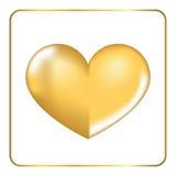Gold heart 3D 3 Royalty Free Stock Photos
