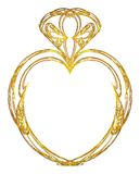 Gold heart design Stock Photo