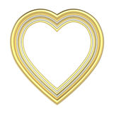 Gold heart picture frame isolated on white. royalty free illustration