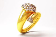 Gold Heart Ring Royalty Free Stock Image