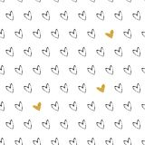 Gold heart seamless pattern. Happy valentines day and weeding design elements Royalty Free Illustration