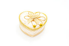 Gold Heart Shaped  Box Stock Photo