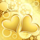 Gold Heart Shiny Holiday Background Royalty Free Stock Images