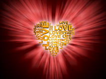 Gold heart symbol Royalty Free Stock Photography