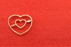 Gold heart valentines Royalty Free Stock Image