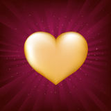 Gold Heart. Vector  Royalty Free Stock Photos