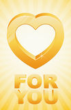 Gold heart for you Stock Photo