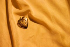 Gold heart1 Stock Photography