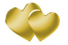Gold Hearts Royalty Free Stock Image