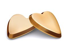 Gold Hearts Stock Photography