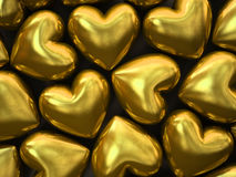 Gold hearts  on background Royalty Free Stock Photography