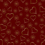 A gold hearts seamless valentines day background Stock Image