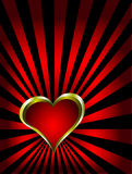 A gold hearts vector valentines day background Royalty Free Stock Images