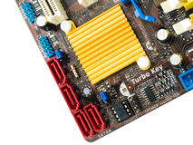 Gold heatsink Royalty Free Stock Photo
