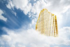 Free Gold Heavens Gate In The Sky / 3D Illustration Stock Image - 134485481