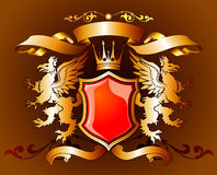 Gold heraldic Stock Photo