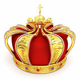 Gold Heraldic Crown Royalty Free Stock Image