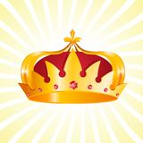 Gold Heraldic Crown Stock Photos