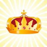 Gold Heraldic Crown Stock Photos
