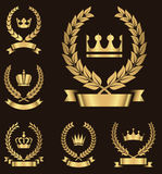 Gold Heraldry Emblems Stock Photos
