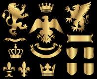 Gold Heraldry Ornaments Royalty Free Stock Photos