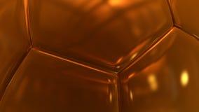 Gold hexagon close up background 3d render. Illustation vector illustration