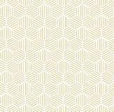 Gold Hexagonal Pattern Background Stock Photo