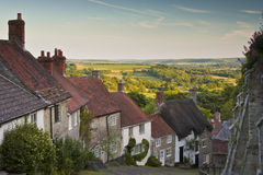 Gold Hill. The beautiful street of Gold Hill in Shaftesbury Stock Images
