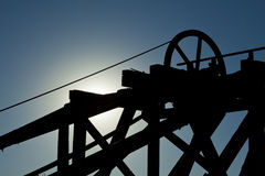Gold Hill Mine Hoist Stock Photos