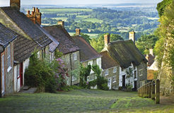Gold Hill, Shaftesbury Royalty Free Stock Photo