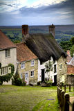 Gold Hill, Shaftesbury. Gold Hill in Shaftesbury - Dorset - England - uk Royalty Free Stock Image