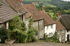 Gold Hill, Shaftesbury stock photos