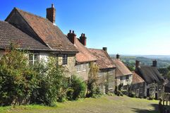 Gold Hill Shaftesbury Stock Photos