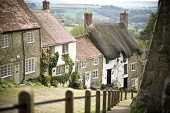 Gold Hill, Shaftesbury. Gold Hill in Shaftesbury - Dorset - England - uk Royalty Free Stock Photos