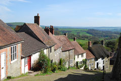 Gold Hill, Shaftesbury Stock Images