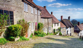 Gold Hill in Shaftesbury Stock Photos