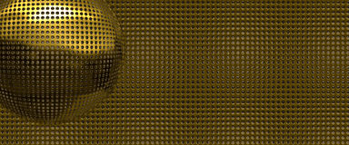 Gold holes abstract. Abstract background of holes punched in gold sheet Stock Photos