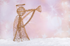 Gold Holiday Angel Royalty Free Stock Photography