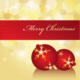 Gold Holiday Card. Christmas gold & red background card Royalty Free Stock Photography