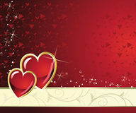 Gold holiday red heart Royalty Free Stock Photos