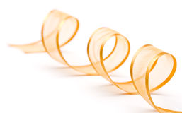 Gold holiday ribbon Stock Photo