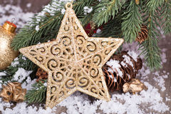 Gold Holiday Star Stock Images