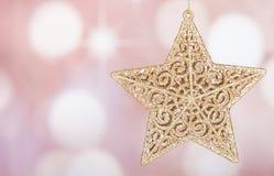 Gold Holiday Star Royalty Free Stock Photo